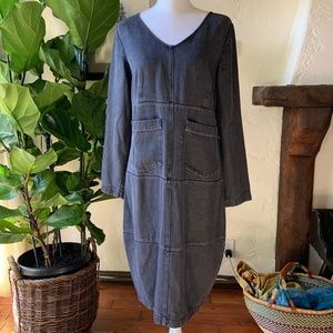 Gunmetal Grey Denim Baggy Dress